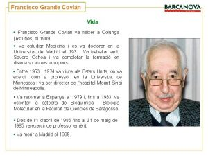 Francisco Grande Covin Vida Francisco Grande Covin va