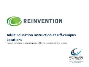 Adult Education Instruction at Offcampus Locations Strategy forging