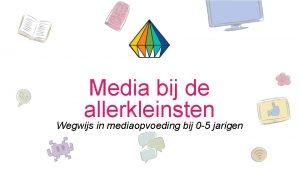 Media bij de allerkleinsten Wegwijs in mediaopvoeding bij