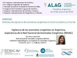 XVII Congreso Latinoamericano de Gentica XLVII Congreso Argentino