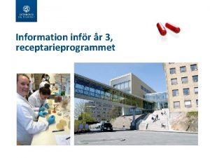 Information infr r 3 receptarieprogrammet Infr de valbara