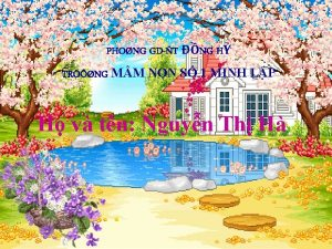 PHONG GDT NG H TRNG MM NON S