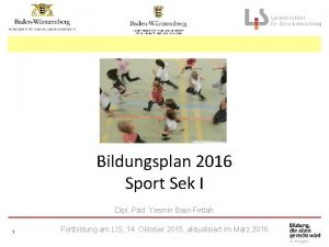 Bildungsplan 2016 Sport Sek I Dipl Pd Yasmin