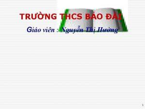 TRNG THCS BO I Gio vin Nguyn Th