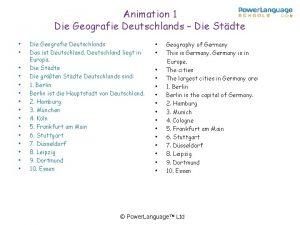 Animation 1 Die Geografie Deutschlands Die Stdte Die