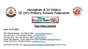 Hovingham St Hildas CE VC Primary Schools Federation