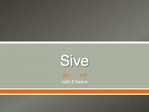 Sive John B Keane John B Keane John