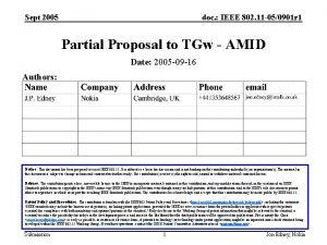 Sept 2005 doc IEEE 802 11 050901 r