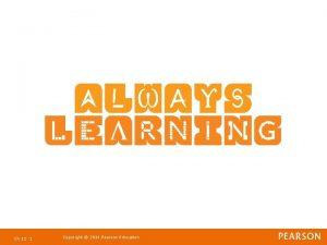 Ch 11 1 Copyright 2011 Pearson Education Strategic