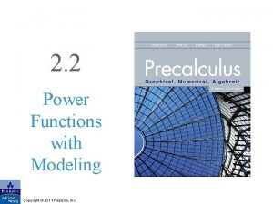 2 2 Power Functions with Modeling Copyright 2011