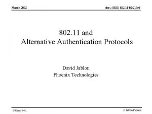 March 2002 doc IEEE 802 11 02213 r