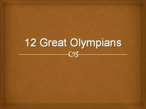 12 Great Olympians Zeus Jupiter Zeus Poseidon Hades