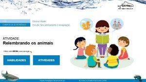 ANO Ensino Infantil CAMPOS DE EXPERINCIA Escuta fala