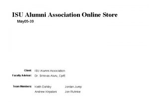 ISU Alumni Association Online Store May 05 39