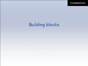 Building blocks Building blocks Components Building blocks Components