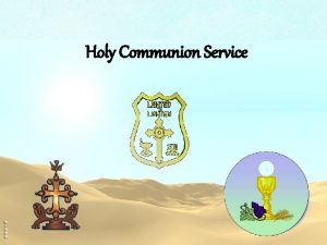 Holy Communion Service v First Lesson v Second