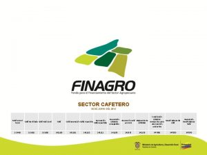 SECTOR CAFETERO 30 DE JUNIO DEL 2012 Caf