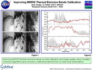 Improving MODIS Thermal Emissive Bands Calibration Jack Xiong