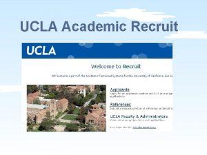 UCLA Academic Recruit UCLA Academic Recruit UCLA Academic