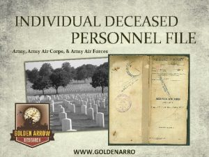 INDIVIDUAL DECEASED PERSONNEL FILE Army Army Air Corps