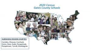 2020 Census Gates County Schools ALBEMARLE REGION COUNTIES