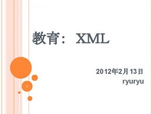 WELLFORMED XML DOCUMENT XML 10 xml version 1