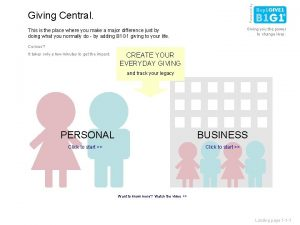 Powered by Giving Central Giving you the power