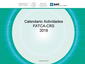 Calendario Actividades FATCACRS 2018 Septiembre 2018 Calendario Actividades