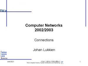 Computer Networks 20022003 Connections Johan Lukkien 642021 Johan