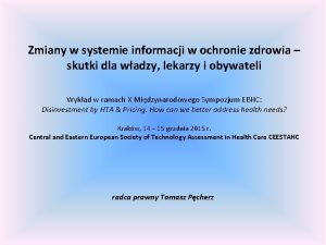 Zmiany w systemie informacji w ochronie zdrowia skutki
