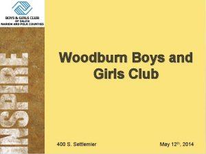 Woodburn Boys and Girls Club 400 S Settlemier