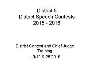 District 5 District Speech Contests 2015 2016 District