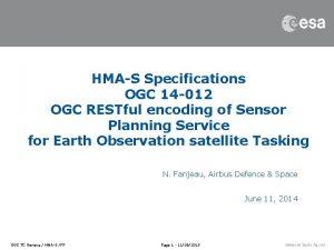 HMAS Specifications OGC 14 012 OGC RESTful encoding