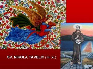 SV NIKOLA TAVELI 14 XI Sv Nikola Taveli