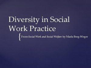 Diversity in Social Work Practice From Social Work