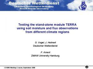 Deutscher Wetterdienst Lindenberg Meteorological Observatory Richard Amann Observatory