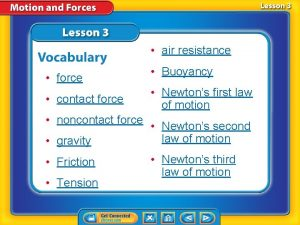 air resistance force contact force noncontact force gravity