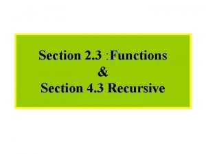 Module 4 Functions Section 2 3 Functions Section