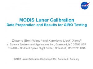 MODIS Lunar Calibration Data Preparation and Results for