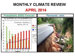 MONTHLY CLIMATE REVIEW APRIL 2014 Probabilistic ENSO Forecast