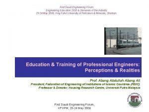 First Saudi Engineering Forum Engineering Education 2020 Demands