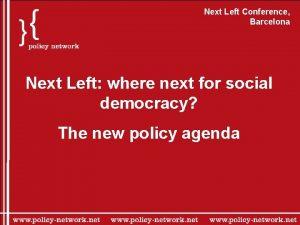 Next Left Conference Barcelona Next Left where next