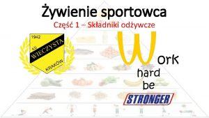 ywienie sportowca Cz 1 Skadniki odywcze Waciwe ywienie