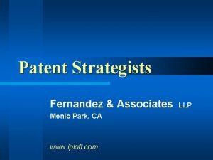 Patent Strategists Fernandez Associates Menlo Park CA www