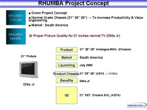 RHUMBA Project Concept RHUMBA Concept Green Project Concept
