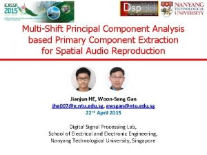 MultiShift Principal Component Analysis based Primary Component Extraction