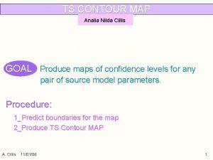 TS CONTOUR MAP Analia Nilda Cillis GOAL Produce