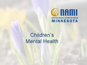 Childrens Mental Health Mental Illnesses Mental Illnesses in