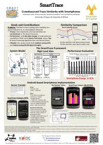 Smart Trace Crowdsourced Trace Similarity with Smartphones Costantinos