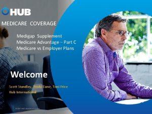 MEDICARE COVERAGE Medigap Supplement Medicare Advantage Part C
